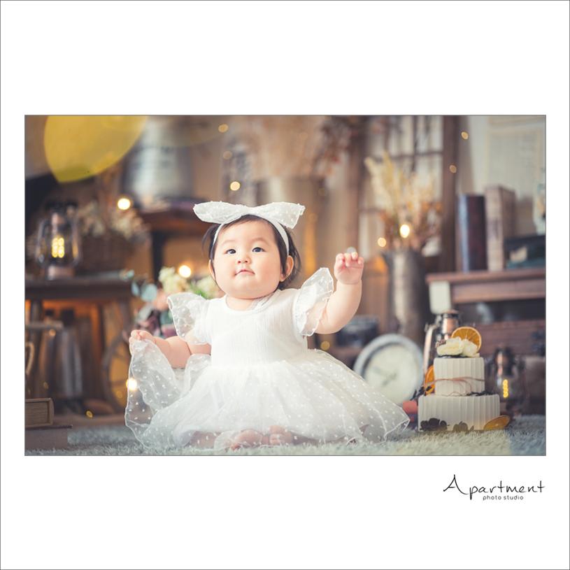 ハーフバースデーフォト:栃木県宇都宮市のフォトスタジオアパートメント:写真館